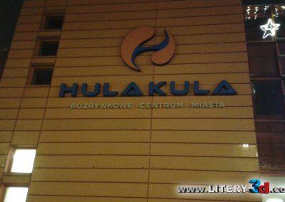 Litery podswietlane reklama swietlna HULAKULA 1