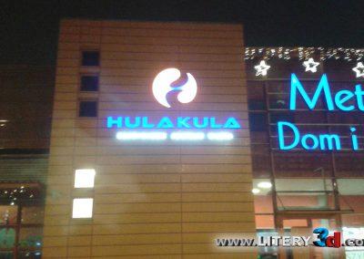Litery podswietlane reklama swietlna HULAKULA 2