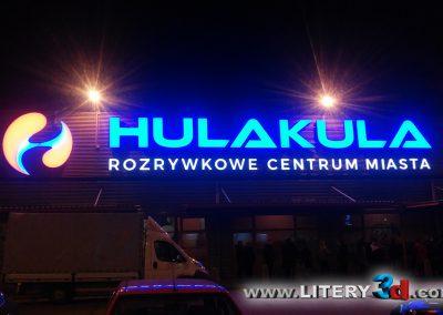 Litery podswietlane reklama swietlna HULAKULA 3
