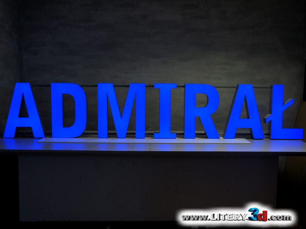 """Litery 3d - realizacja """"Admirał"""""""